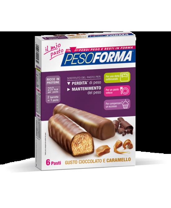Pesoforma Barrette Al Cioccolato E Caramello 6 Pasti 12 Pezzi - Farmacento