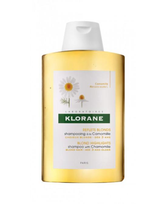 Klorane Shampoo Alla Camomilla Capelli Biondi O Castano Chiaro 200ml - Farmamille