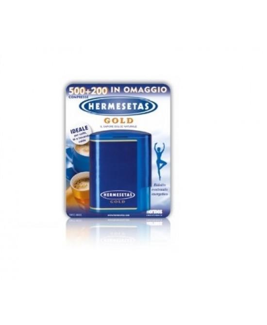 Hermesetas Gold Dolcificante 500 + 200 Compresse - farma-store.it