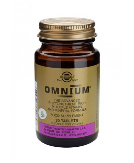 Solgar Omnium 30 Tavolette - Antica Farmacia Del Lago