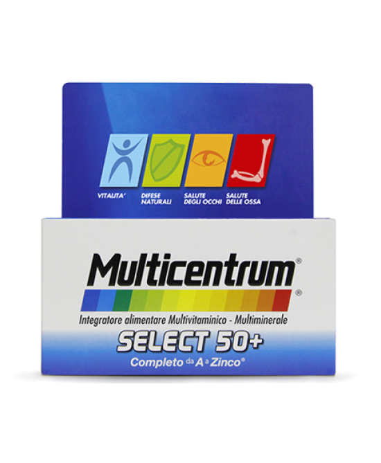 Multicentrum Select 50+ Integratore Alimentare 30 Compresse - Zfarmacia