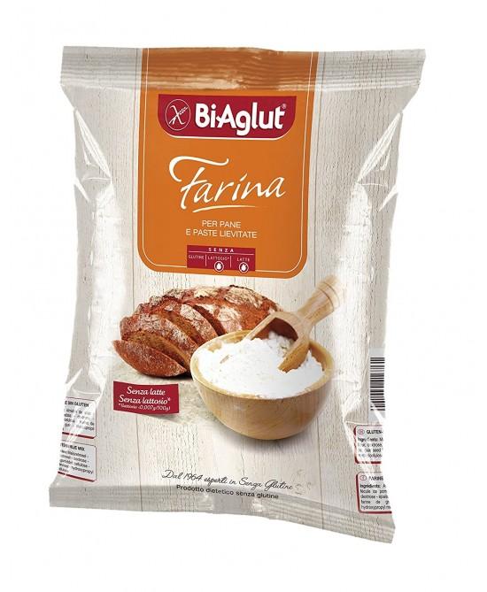 Bi-Aglut Farina Per Pane E Paste Lievitate Senza Glutine 1kg - La tua farmacia online