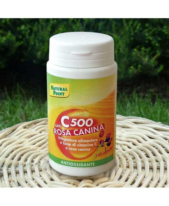 Natural Point C500 Con Rosa Canina Integratore Alimentare 100 Capsule - Zfarmacia