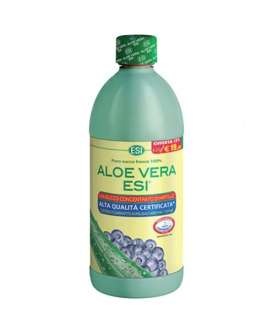 ESI Aloe Vera Succo Con Mirtillo Integratore Alimentare 1000ml - La tua farmacia online