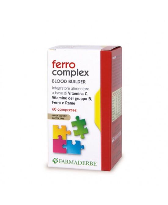 Farmaderbe Ferro Complex Integratore Alimentare 60 Compresse - FARMAEMPORIO