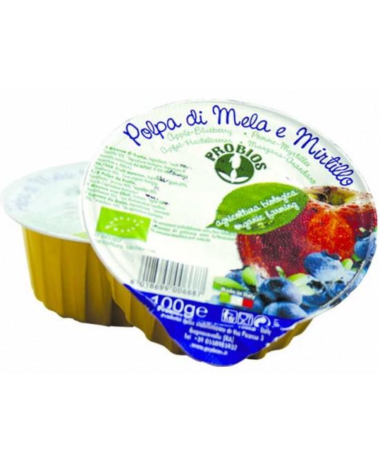 Priobios Frutta Polpa Di Mela E Mirtillo Biologica 100g - FARMAEMPORIO