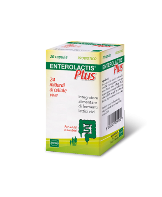 Enterolactis Plus 20 Capsule - Farmalilla