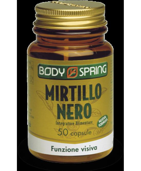 Body Spring Mirtillo Nero Integratore Alimentare 50 Capsule - Zfarmacia