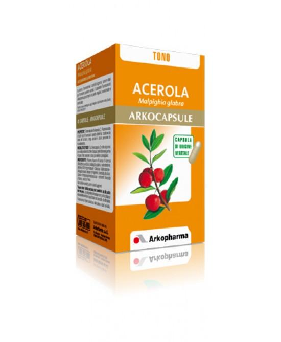 Arkopharma Acerola Arkocapsule Integratore Alimentare 45 Capsule - Zfarmacia