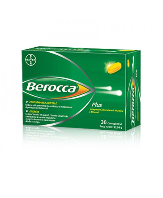 Bayer Berocca Plus Integratore Alimentare 30 compresse - Farmacento