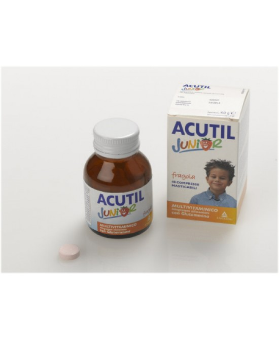 Acutil Multivitaminico Junior Integratore Alimentare Gusto Fragola 40 Compresse - Farmacia 33