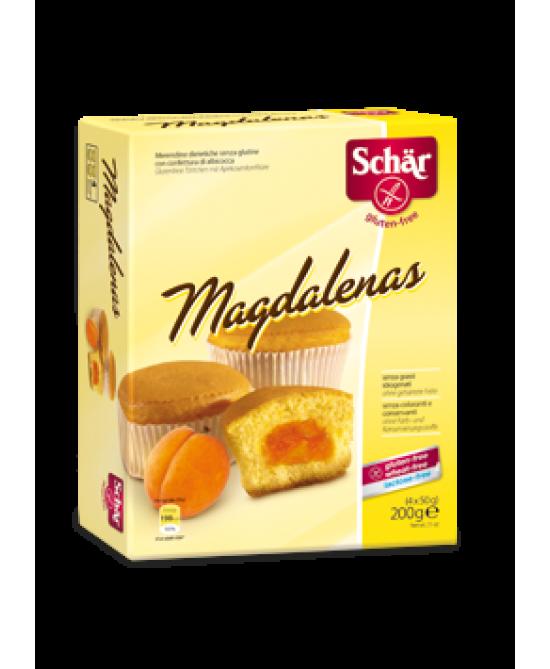 Schar Magdalenas Merendine Con Confettura Di Albicocca Senza Glutine 200g (4x50g) - Zfarmacia
