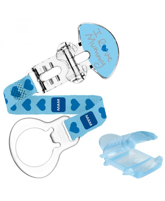 Mam Love Clip E Cover Con Custodia Blu - Farmaciasconti.it