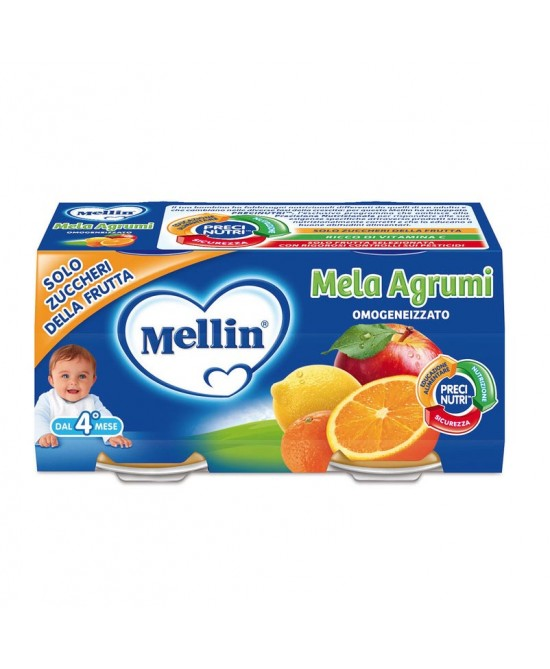 Mellin Omogeneizzati Di Frutta Mela Agrumi 2x100g - La tua farmacia online