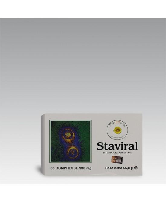 Etnopharma Staviral Integratore Alimentare 60 Compresse 56g - Farmastar.it