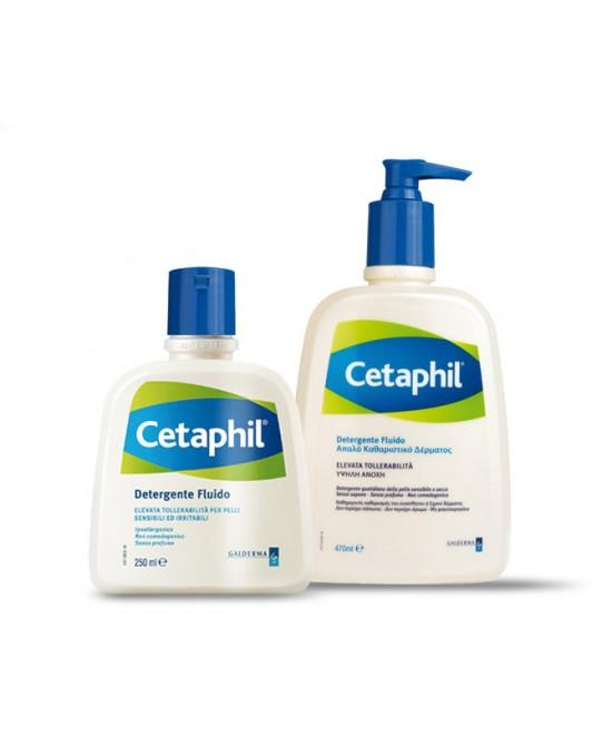 Cetaphil Detergente Fluido Flaconi Da 250ml E 470ml - Farmacento