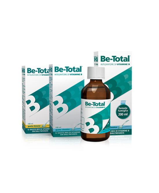 Be-Total Plus Sciroppo Integratore Gusto Limone 100ml - La tua farmacia online