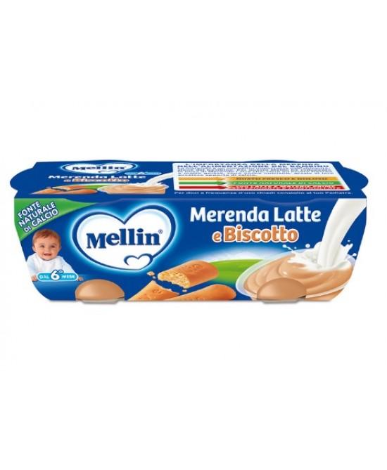 Mellin Merenda Latte E Biscotto 2x130g - Farmacia 33