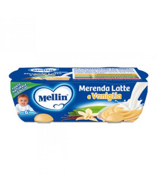 Mellin Merenda Latte E Vaniglia 2x130g - Farmacia 33