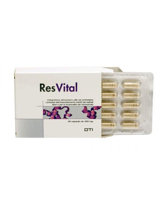 Oti Resvital 30 Capsule 450mg - Farmacia 33