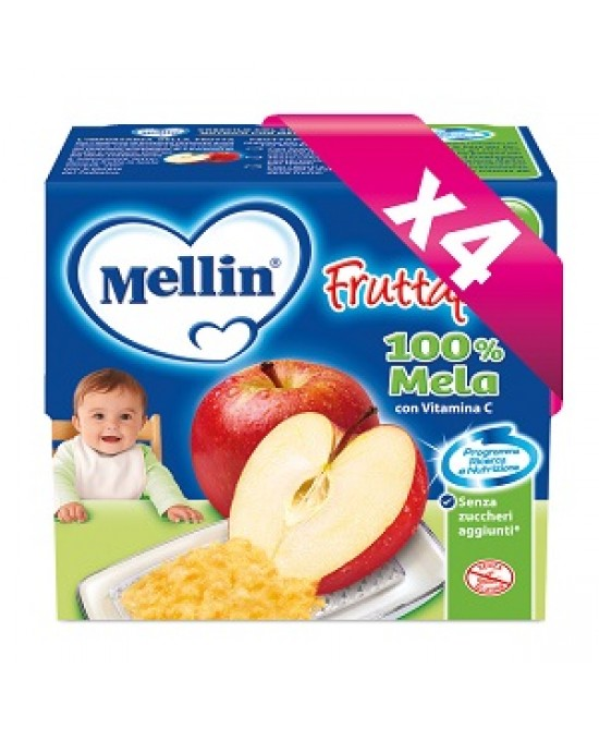 Mellin Fruttapura Mela 4x100g - La tua farmacia online
