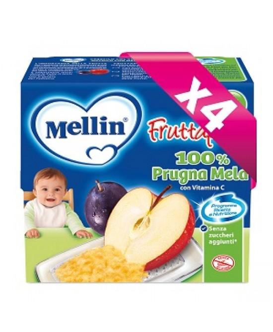 Mellin Fruttapura Prugna Mela 4x100g - La tua farmacia online