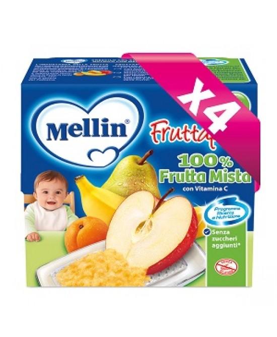Mellin Fruttapura Frutta Mista 4x100g - La tua farmacia online