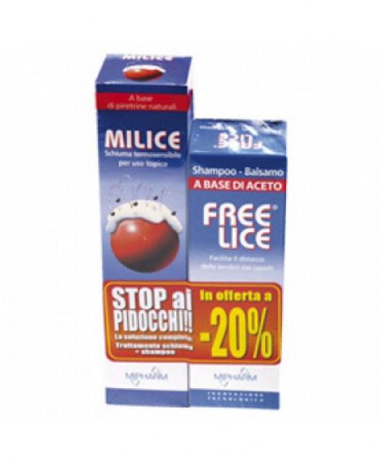 Sandoz Milice Multipack Schiuma Milice 150ml + Shampoo Freelice 80ml - Farmaciasconti.it
