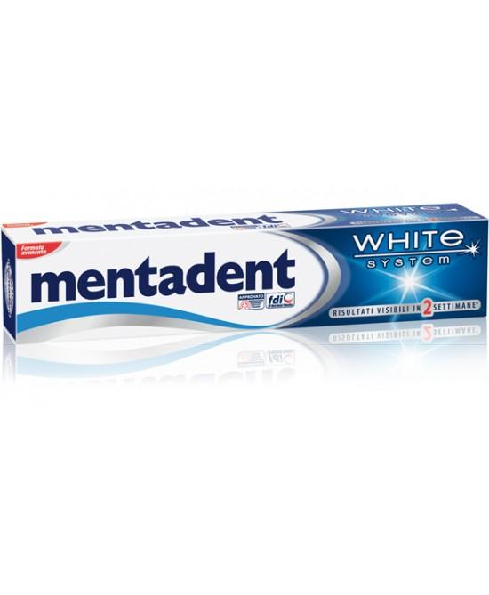 Mentadent Dentifricio White System 75ml - FARMAEMPORIO