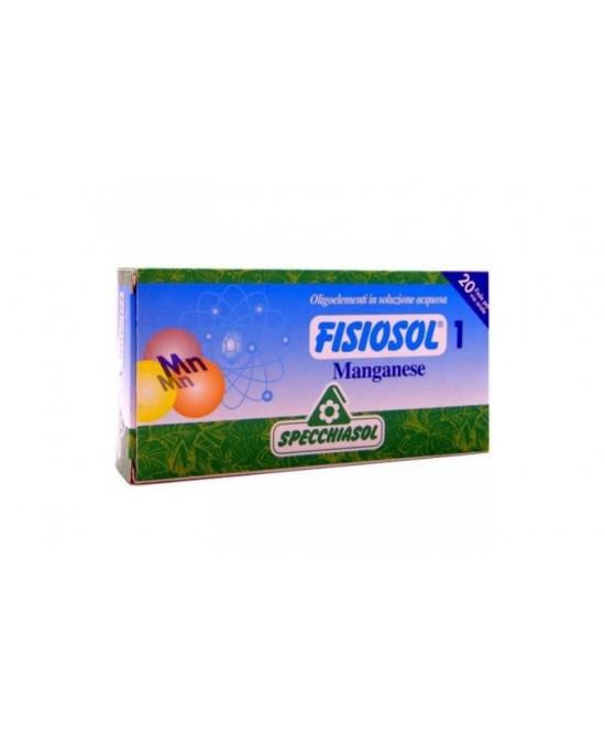 Specchiasol Fisiosol 1 Manganese Integratore Alimentare 20 Fiale x2ml - FARMAEMPORIO