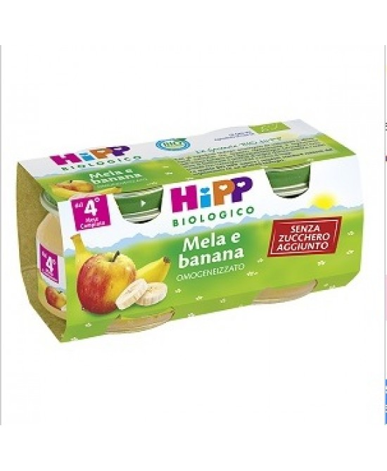 HiPP Biologico Omogeneizzato Mela E Banana 2x80g - FARMAEMPORIO