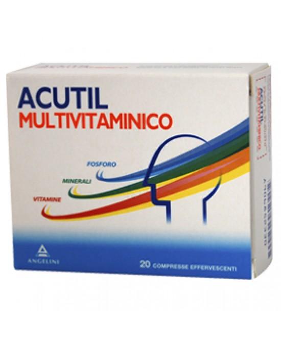 Acutil Multivitaminico Integratore Alimentare 20 Compresse Effervescenti - La tua farmacia online