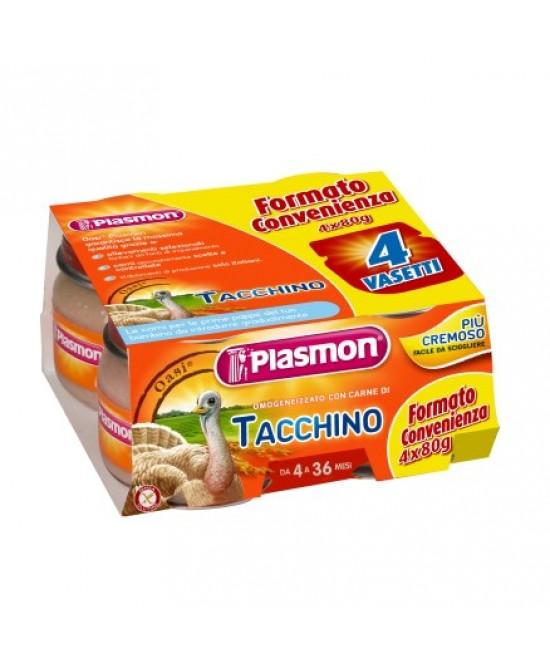 Plasmon Omogeneizzato Di Carne Tacchino 4x80g - Farmaciaempatica.it