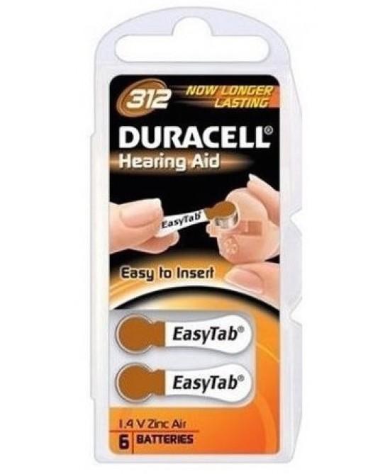 Duracell Zinc Air Et 312 6 Pile - Farmacia 33