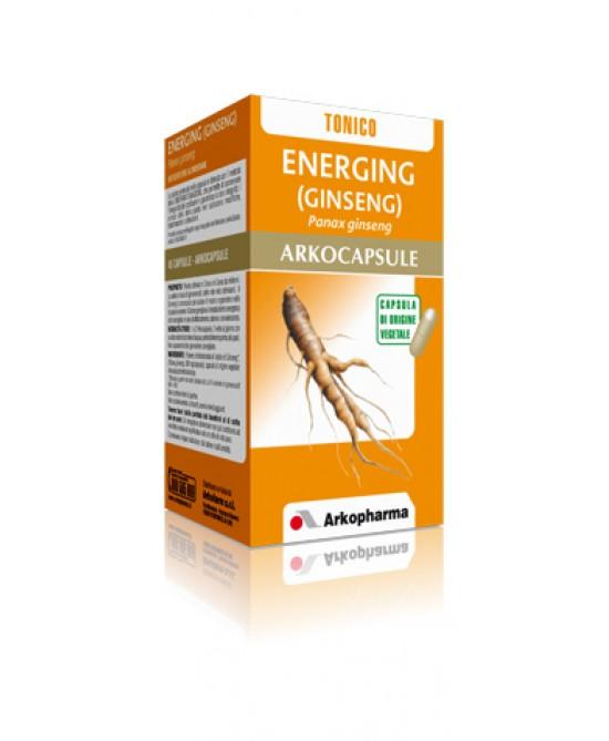 ArkoPharma Energing Ginseng Arkocapsule Integratore Mentale al Ginseng Defatigante 45 Capsule - La tua farmacia online