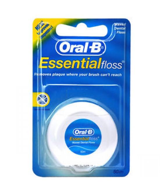 Oral-B Essential Floss Filo Interdentale Cerato 50 Metri - Farmastar.it