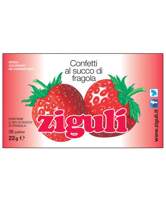 Ziguli Fragola 36 Palline 22g - farma-store.it
