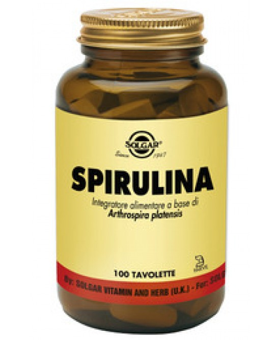 Solgar Spirulina 100 Tavolette - Farmapc.it