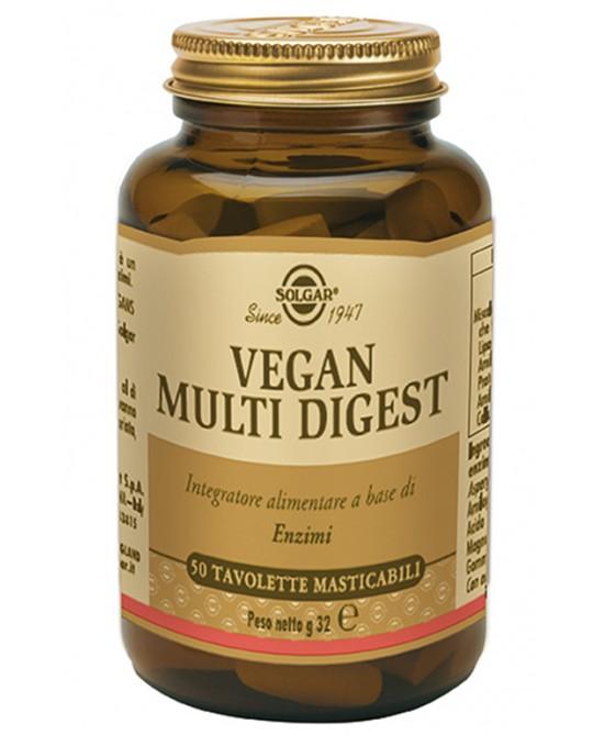Solgar Vegan Multi Digest 50 Tavolette Masticabili - Farmacia 33