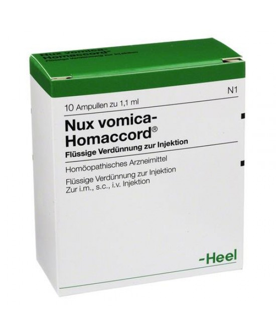 Heel Nux Vomica-Homaccord 10 Fiale - Farmawing