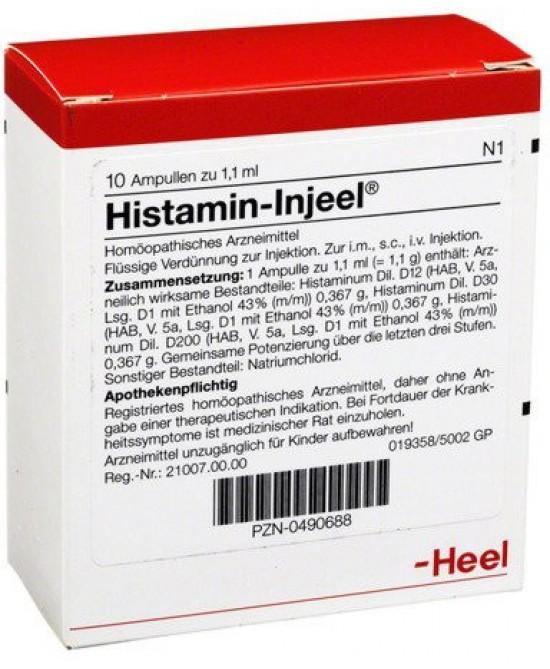 Heel Histamin-Injeel 10 Fiale Da 1,1ml - Farmawing