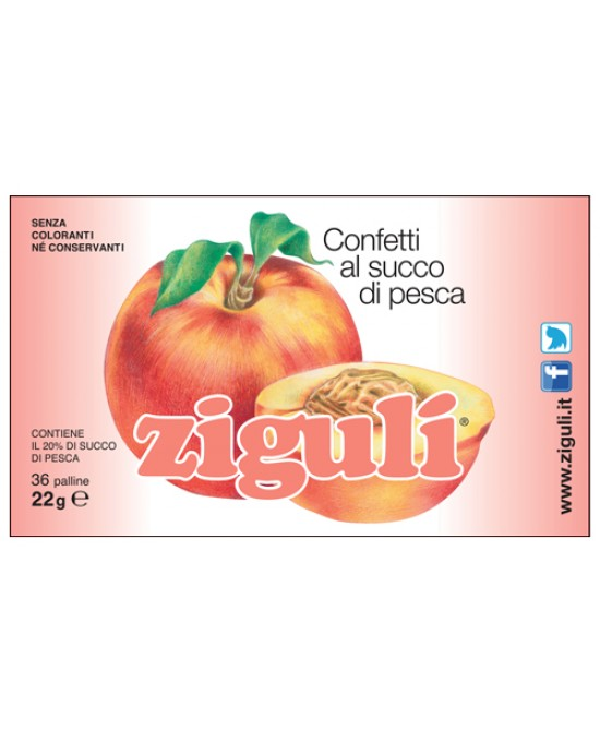 Ziguli Pesca 36 Palline 22g - farma-store.it
