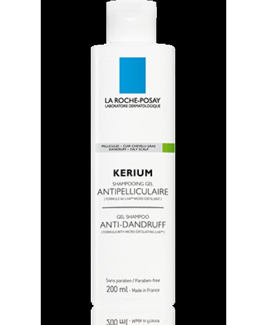 La Roche-Posay Kerium Shampoo-Gel Anti-Forfora Cute Grassa 200ml - FARMAPRIME