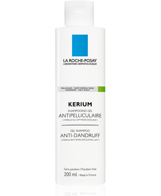 La Roche-Posay Kerium Shampoo-Gel Anti-Forfora Cute Grassa 200ml - Farmastar.it