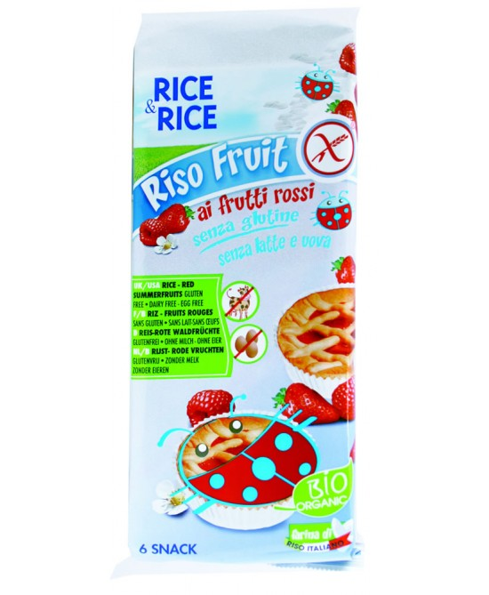 Rice&Rice Riso Fruit Ai Frutti Rossi Biologico 6x33g - FARMAEMPORIO