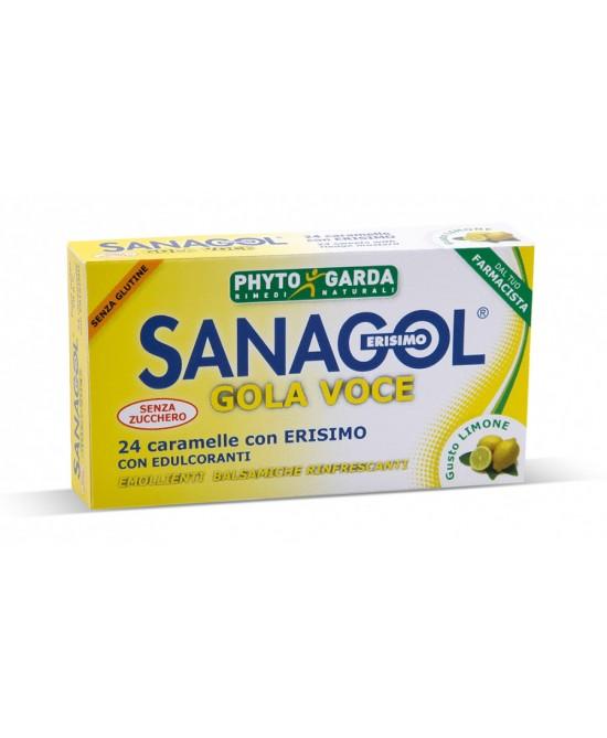 Phyto Garda Sanagol Gola Voce Senza Zucchero Limone  24 Caramele - FARMAEMPORIO