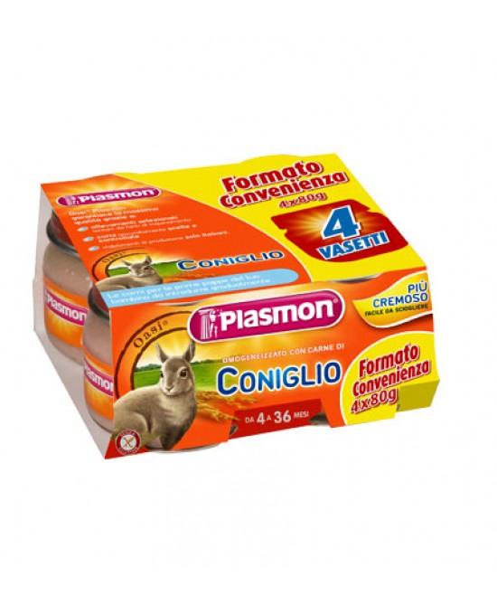 Plasmon Omogeneizzato Di Carne Coniglio 4x80g - farma-store.it