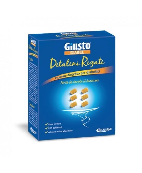 Giusto Diabel Pasta A Basso Indice Glicemico Ditalini Rigati 500g - Farmacento