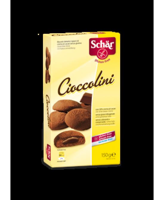 Schar Cioccolini Biscotti Ripieni Di Crema Al Cacao Senza Glutine 150g - farma-store.it