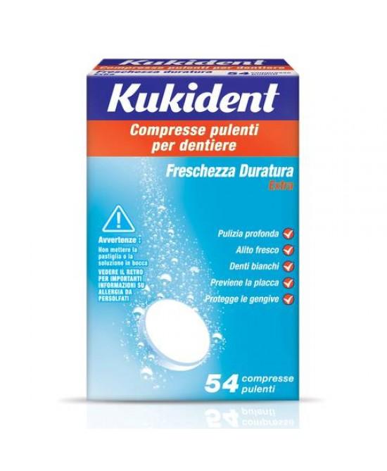 Kukident® Freschezza Duratura Compresse Pulenti Per Dentiera 54 Compresse - La tua farmacia online